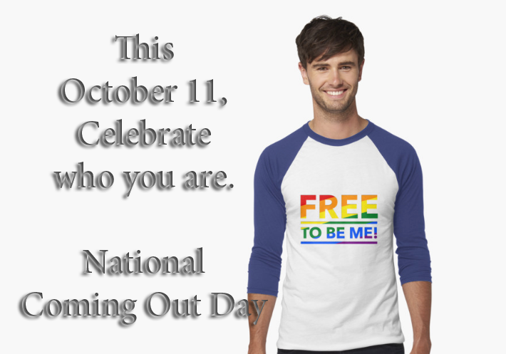 Free to Be Me | National Coming Out Day | Oct 11 — Damien ...